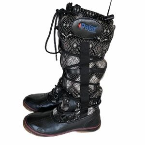 Pajar Fabric Lace Front Boots Size 6-6.5